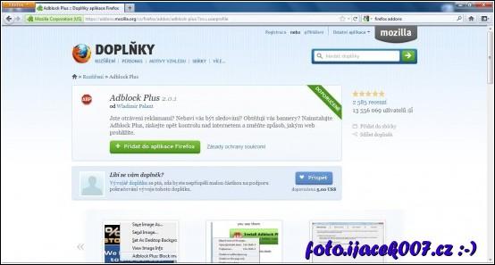 obrázek AdBlock firefox Addons