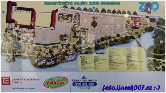 orientační plán zoo