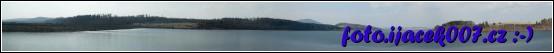 Panoramatický pohled na celou nádrž Slezské Harty