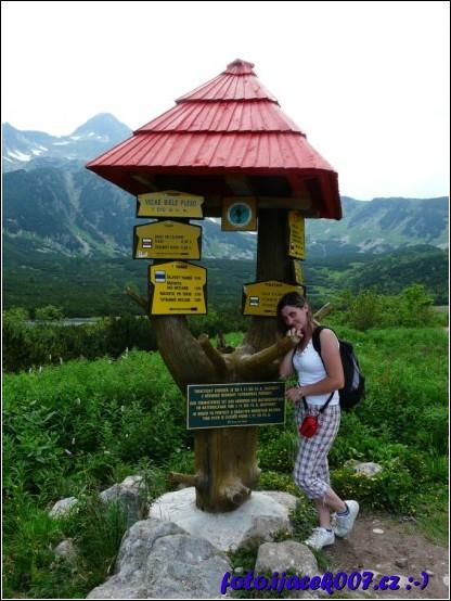 rozcestník turistického značení slovenského TRNAP(u)