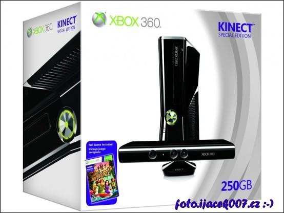 Balení konzole Xbox 360