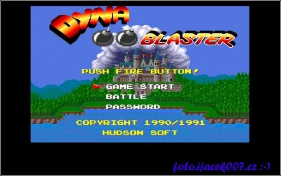 Obrazovka dos hry dyna blaster
