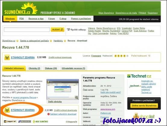 webová stránka slunecnice.cz