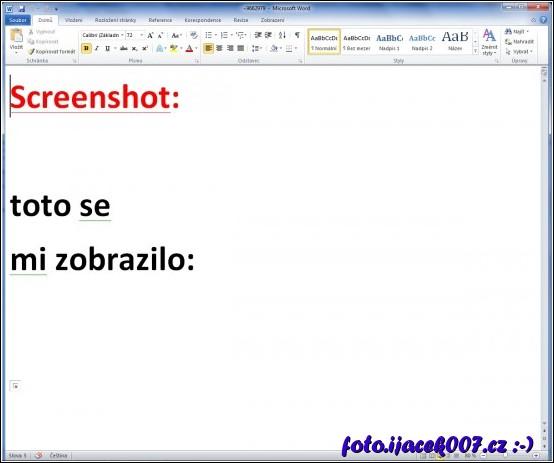 obsah souboru screnshot.doc podvodně rozesilaneho pro oveření emailove adresy pro odesilani spamu