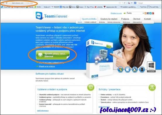 webová stránka team viewer