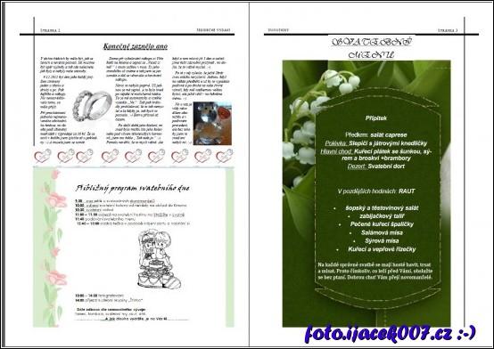 svatební noviny pro svatebčany