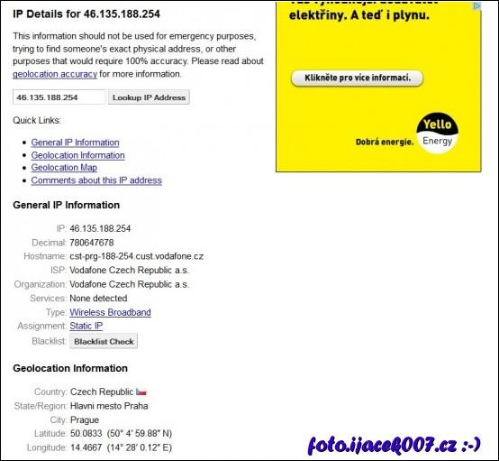 informace k ip adrese