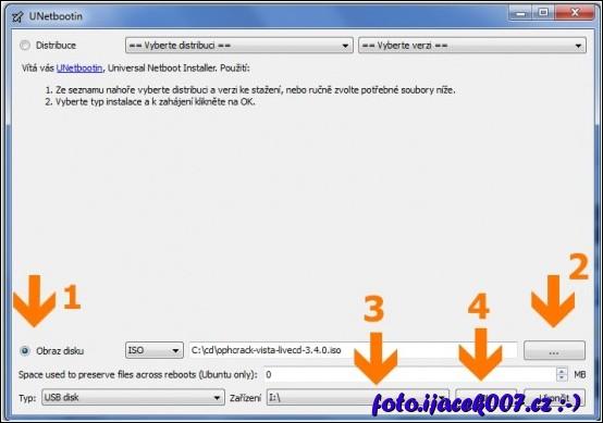 výběr souboru iso pro vytvoření boot flashdisku