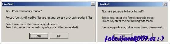 potvrzení přenosu firmware