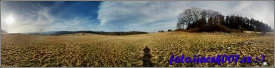panoramatický pohled od keše do okolý
