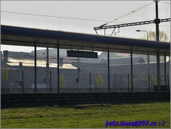 Nástupiště nádraží Ostrava Stodolní