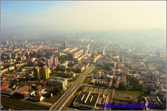 pohled na Ostravu a její oblačnost chcete li smog