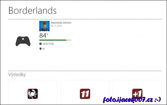 statistika hry Borderlands a získané uspěchy