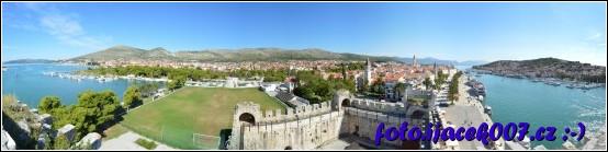 panoramatický pohled na trogir