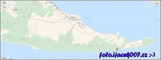 umístění keše na mapě ostrov čiovo