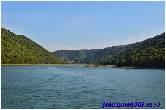 Pohled na řeku krka