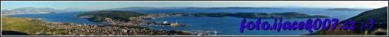 panoramatický pohled na ostrov Čiovo a pod ním na Trogir
