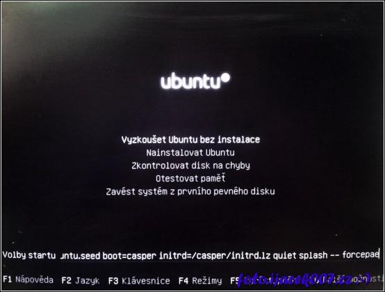 obrázek instalace ubuntu na pentium-m