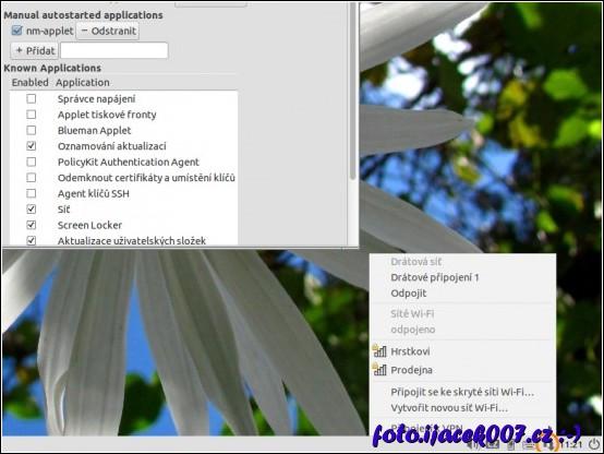 obrázek Lubuntu seznam dostupných wifi síti.