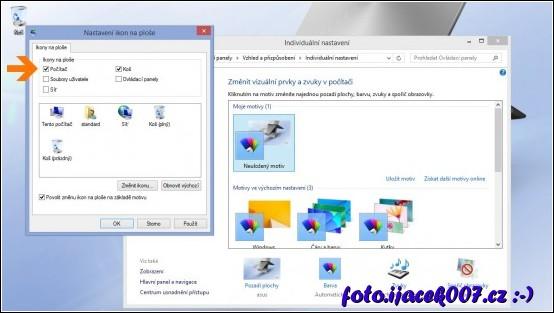 přidání položky tento počítač na plochu systému Windows 8