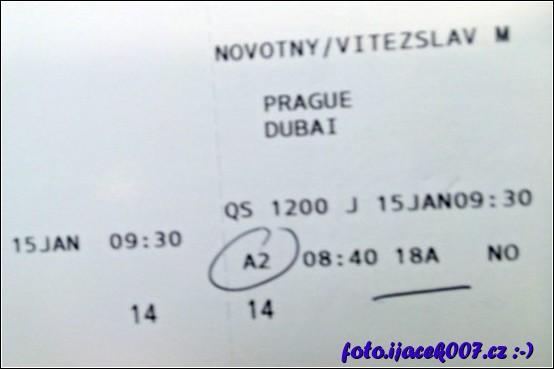 letenka Praha Dubai