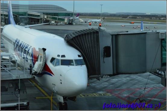 Letadlo připravené na nástup pasažéru