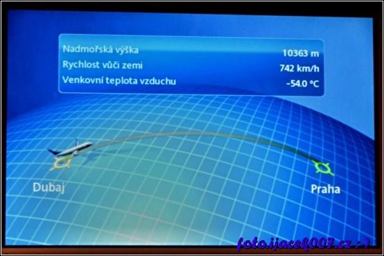informace o rychlosti a výšce