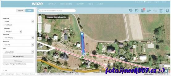 pohled do editoru map pro navigaci