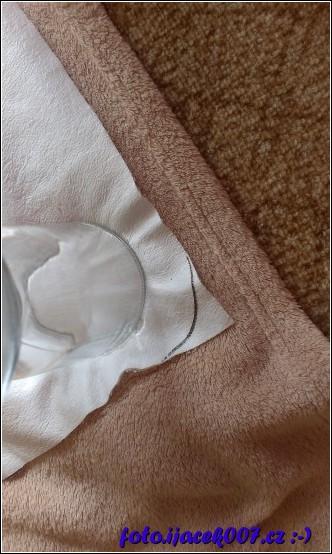 obkreslení zarovnání rohu pomocí sklenice