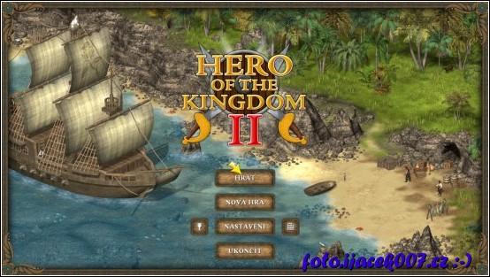 menu hlavní obrazovky hry