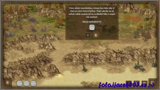 první prototyp herního prostředí s ovládacími prvky
