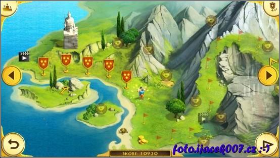 pohled na herní mapu ze začátku hry