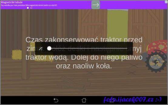 polský popis co je potřeba s traktorem udělat