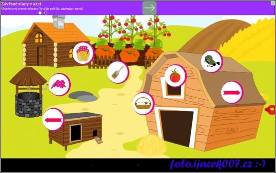 obrazovka z volbou úkolu