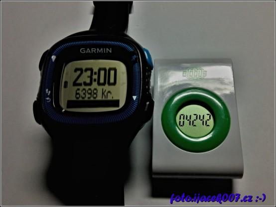 rozdíl v naměřených krocích hodinkami Garmin a krokoměrem globus