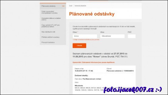 obrázek Web společnosti čez