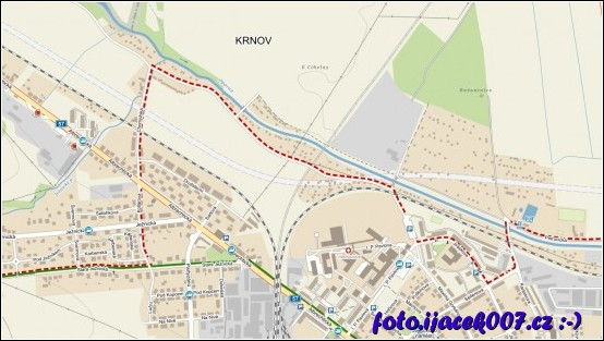 na turistické mapě je ještě vidět kudy vedla stará trať