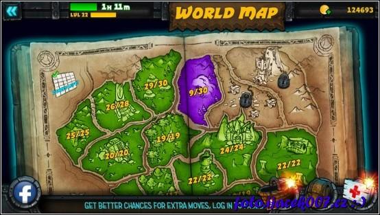 herní mapa zelené regiony jsou již vyhrané stále je přede mnouo podstatná část hry