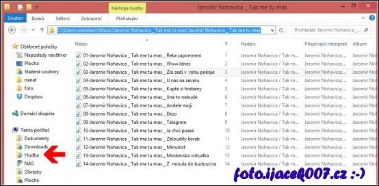 nejjednodušší proklik do hudební knihovny Windows