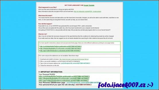 informace o postupu pro zaplacení
