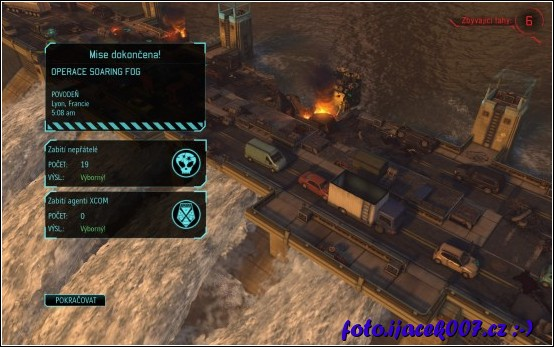 výsledek snažení o záchranu vodní nádrže mise z data disku Enemy Within