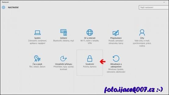 obrázek nastavení Windows 10