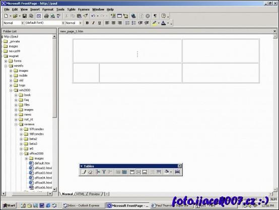 Program Microsoftu umožnující obsah ukládat jako HTML stránky