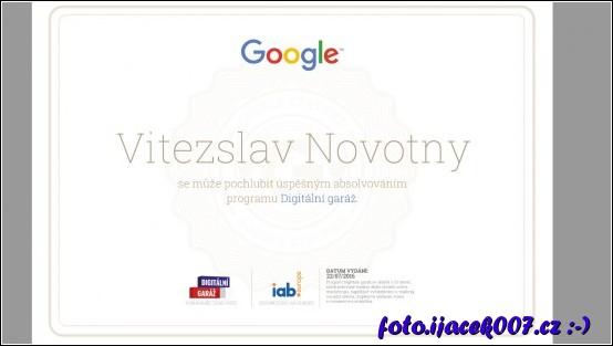 certifikát za dokončení testu