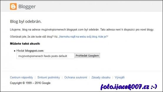 blog zrušen