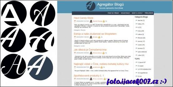 postup vytváření loga webu agregátor blogů