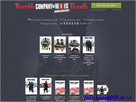 možnost nakoupit hry se slevou nabízí i portál humblebundle.com který část zisku z prodeje věnuje charitativním organizacím.