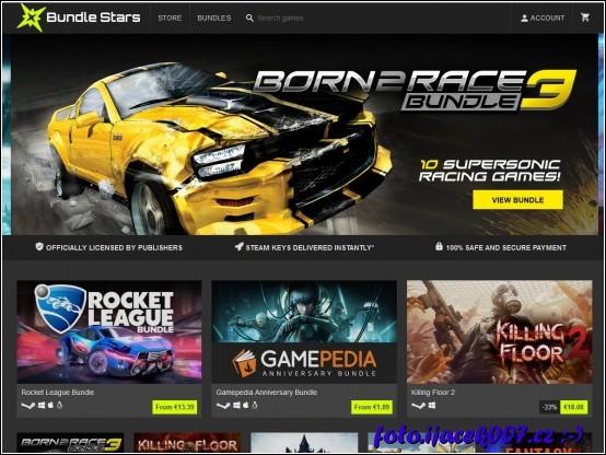 Hlavní stránka portálu Bundle Stars láká na nejnovější akci