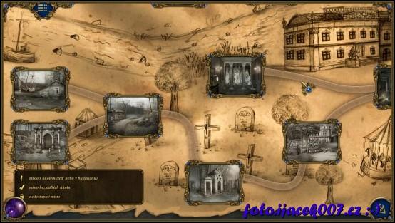 pohled na odemčené místa hry