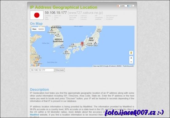 lokalizace ip adresy ze které byl odeslán email